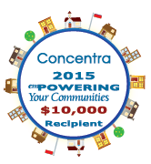 Conentra 2015 $10,00 recipient empowering your communities